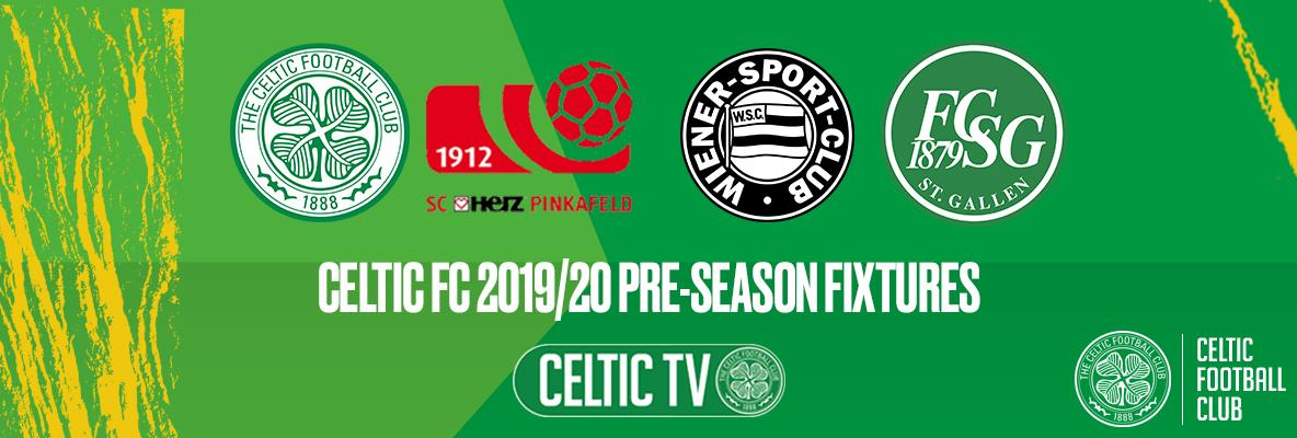 Celtic announce pre-season training camp matches