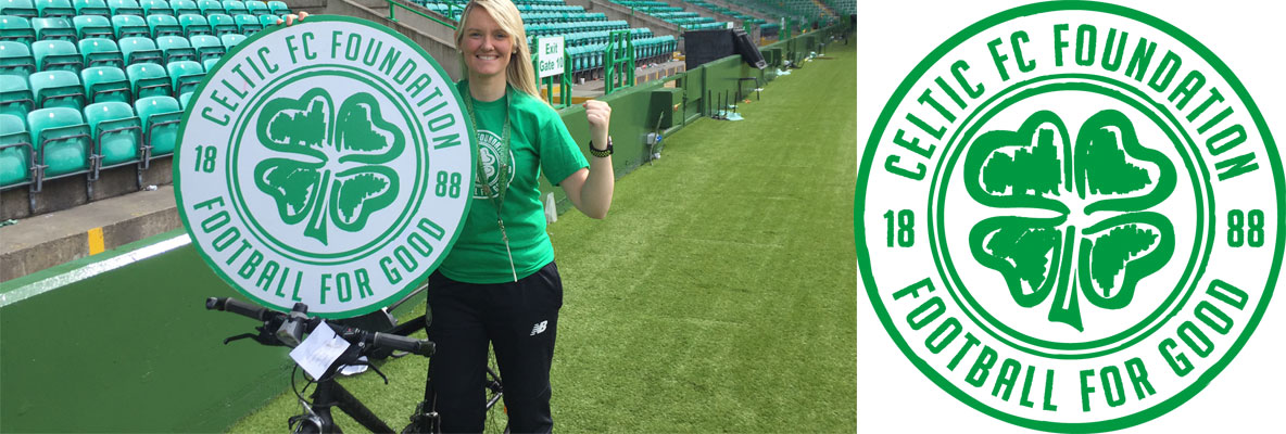 Celtic FC Foundation's Gillian taking on Amsterdam cycle