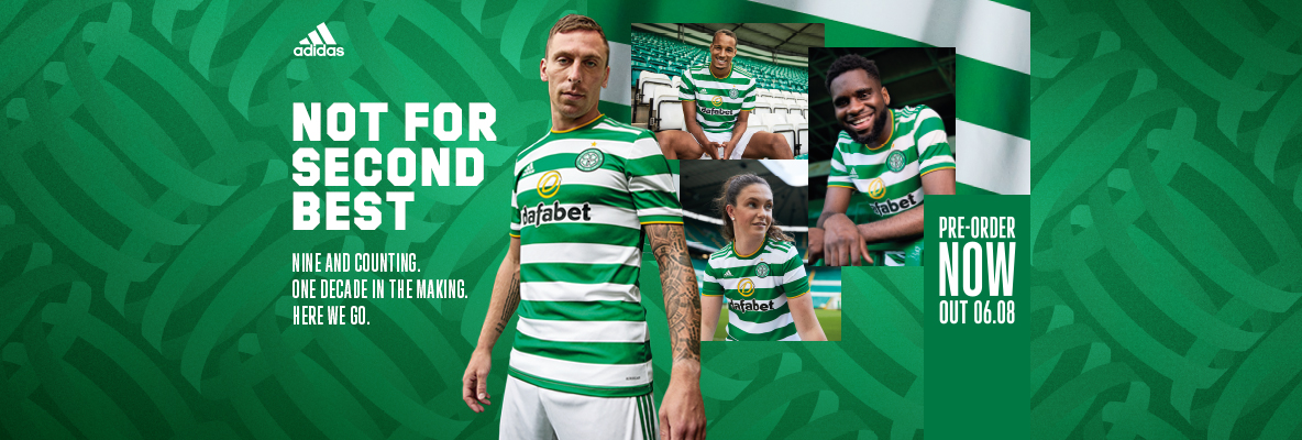 Adidas x Celtic FC unveil the home kit. Pre-order now