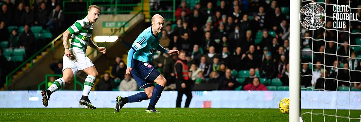 Solitary Griffiths strike seals Celtic's 10th league win in a row