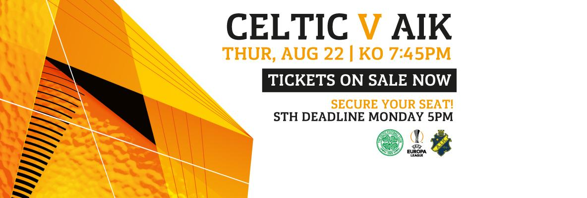 Deadline 5pm today - secure your seat for Europa League play-off