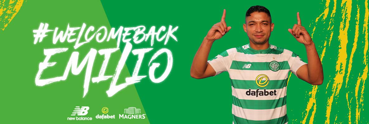 Delight as Emilio Izaguirre rejoins Celtic
