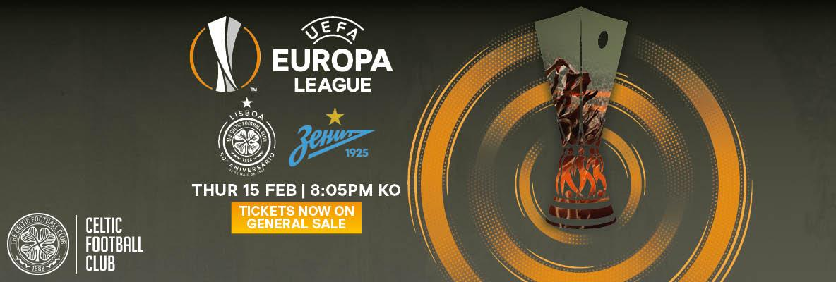 Tickets on general sale now for Celtic v FC Zenit in Europa League