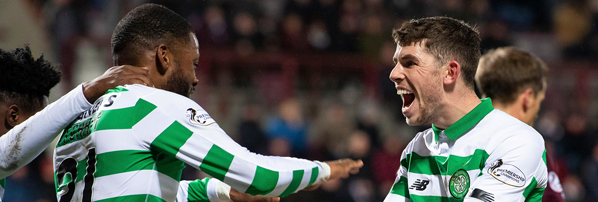 Celtic make it nine league wins in a row with victory over Hearts