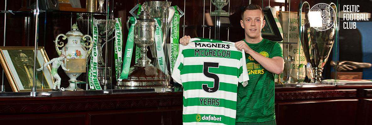 Celtic delighted as Callum McGregor signs new five-year deal