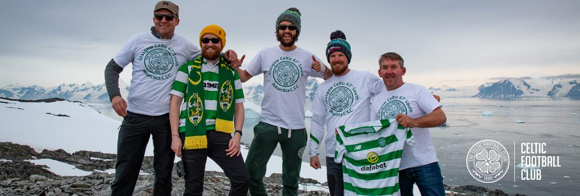 Celtic fans ensure that Antarctica is green and white
