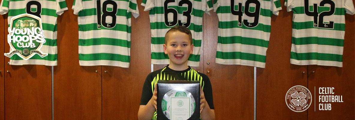 Congratulations Danny, our Young Hoops Club competition winner