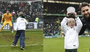 Paradise celebrates as Wee Jay Beatty  picks up his award