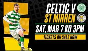 Last remaining tickets on sale for Celtic v St Mirren