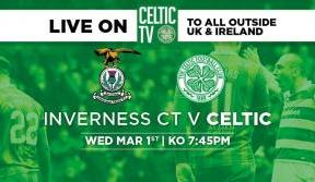 Watch the Bhoys v Inverness CT on Celtic TV