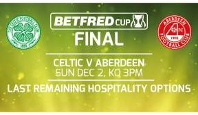 League Cup final hospitality – only gold packages available