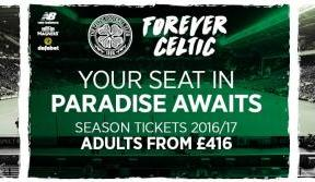 Don't miss our European adventure with a 2016/17 Season Ticket