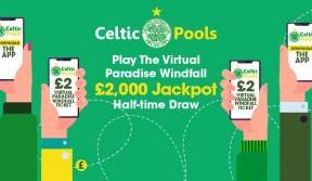 Download Celtic Pools app and play the virtual Paradise Windfall
