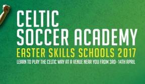 Sign up for Celtic Soccer Academy's Easter Skills Schools