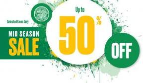 Shop And Save With Celtic With Up To 50% Off Selected Lines!