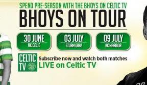 Bhoys on tour - see the action live on Celtic TV