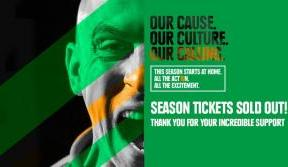 2020/21 season tickets – sold out