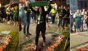 Hoops fans walk on fire for Celtic FC Foundation