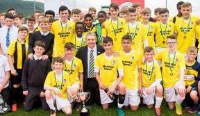 The Lisbon Lions Trophy set for Lennoxtown finale