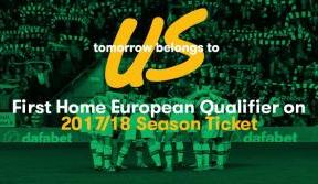 Home games v Lyon and Linfield included in season ticket