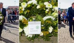 Neil Lennon and Peter Lawwell pay respect to Fernando Ricksen