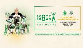 Tickets on sale now for Scott Brown testimonial match