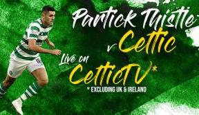 Partick Thistle v Celtic in the League Cup – live on Celtic TV