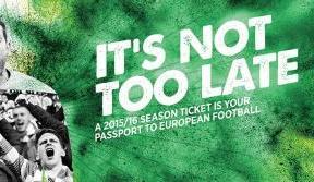 Guarantee your seat for UEFA Europa League with a Season Ticket