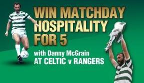 Win Matchday Hospitality for five at the Celtic v Rangers game