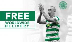 Celebrate Celtic with our extended free worldwide delivery offer