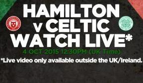 Tune in to Celtic v Hamilton Accies today on Celtic TV