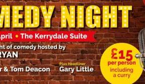 Enjoy a top comedy line-up in the Kerrydale Suite