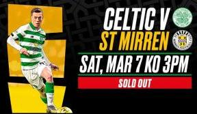 Celtic v St Mirren: tickets now sold out