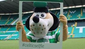 Take a #celticselfie with Hoopy on a stadium tour