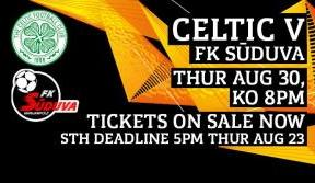 Celtic v FK Suduva play-off tickets available to buy online