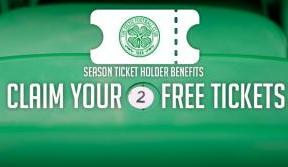 Season ticket holders - two free tickets for Accies or Thistle