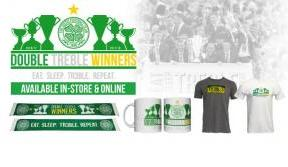 Celebrate the History Bhoys with our Double Treble merchandise