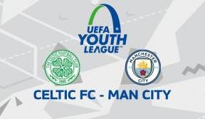Young Celts in UEFA Youth League action v Manchester City