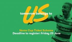Home cup ticket scheme deadline reminder