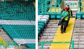 Rail seating work begins at Celtic Park