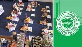 Celtic FC Foundation provide emergency food packages to young people