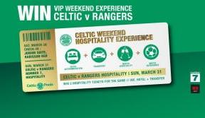 Win a VIP weekend experience for Celtic v Rangers