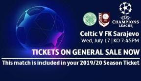 Buy online and print at home for Celtic v FK Sarajevo