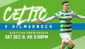 Tickets selling fast for Celtic v Kilmarnock this weekend