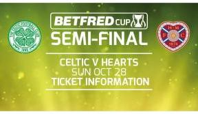 Celtic v Hearts League Cup semi-final – tickets on sale now