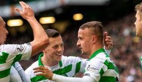 Griffiths hat-trick helps Celtic demolish Saints at Paradise