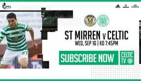 Join us on Celtic TV as the Bhoys take on St Mirren
