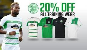 Take 20% off all training wear – offer ends Monday