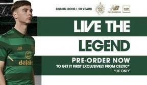 Celtic star looks forward to wearing new away kit