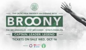 Tickets on sale tomorrow for an evening with Broony